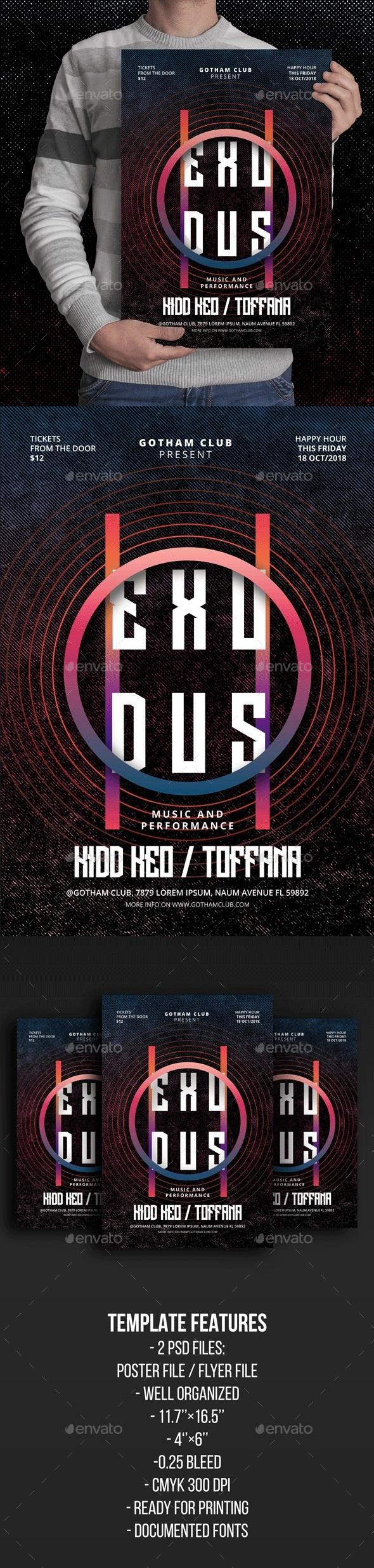 Exodus Poster/Flyer - Events Flyers