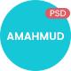 AMAHMUD - Freelancer Portfolio PSD Template
