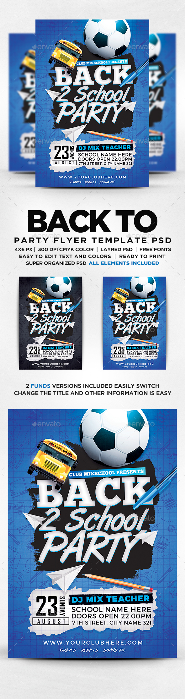 GraphicRiver Back To School Party 20381085
