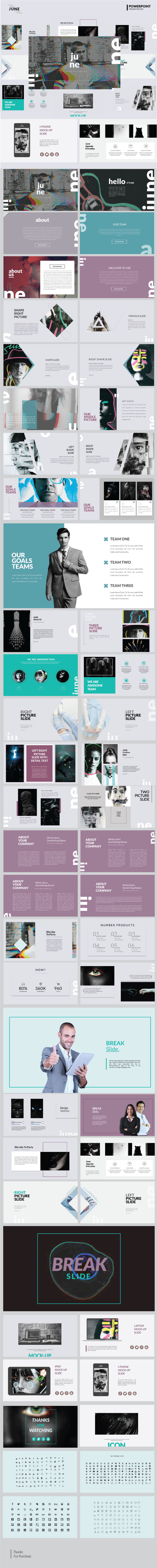 June - Creative Presentation Template - PowerPoint Templates Presentation Templates