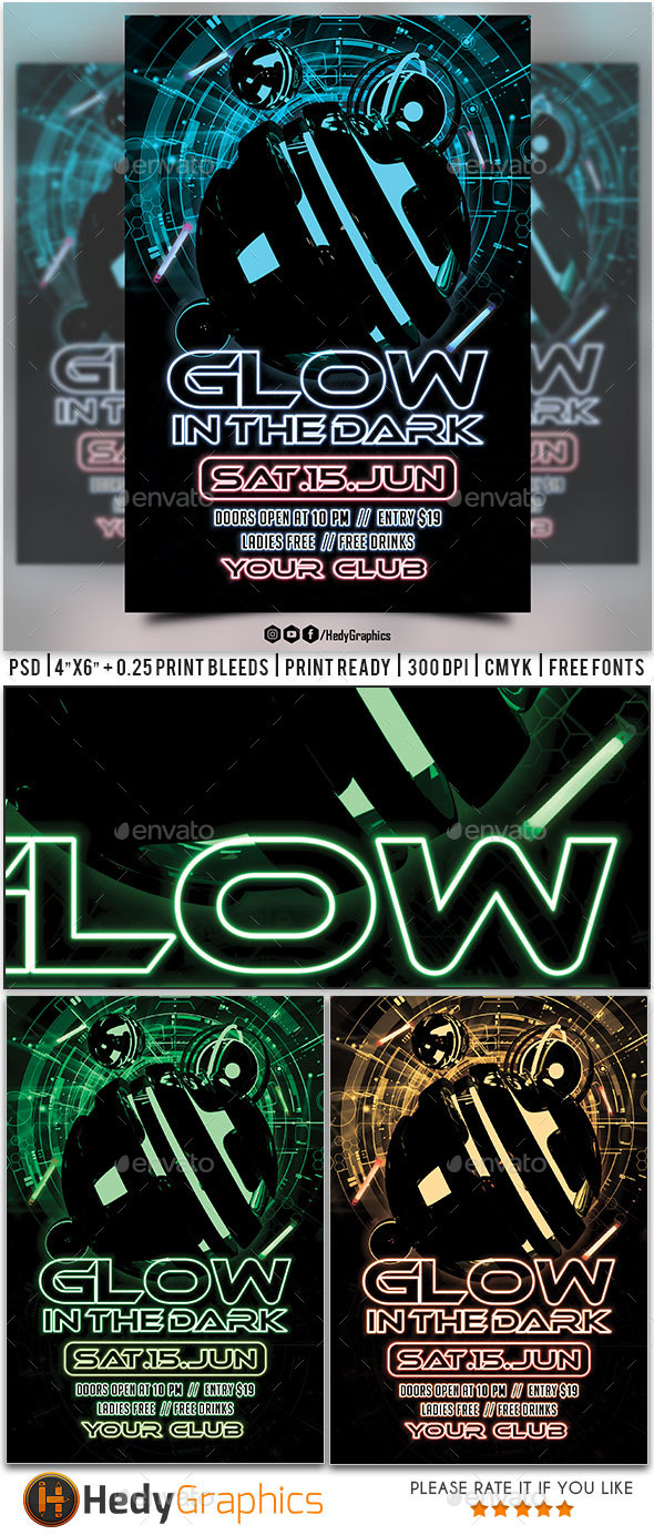 GraphicRiver Glow in the dark Flyer 20381128