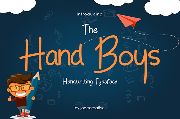 GraphicRiver Hand Boys Font Typeface 20381254
