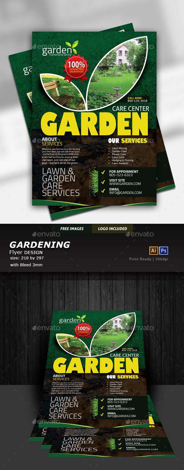 GraphicRiver Garden Landscape Flyer 20381319