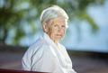 Portrait of senior woman outdoors