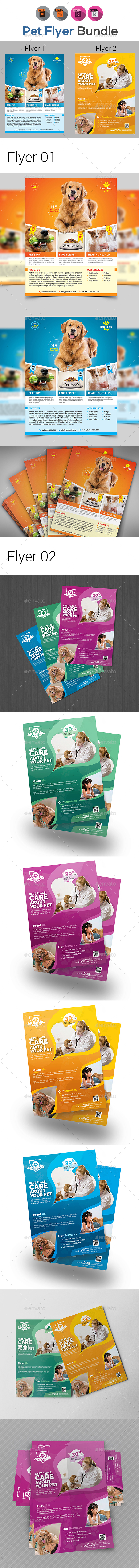 GraphicRiver Pets Shop & Care Flyer Templates 20381800