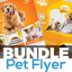 Pets Shop & Care Flyer Templates