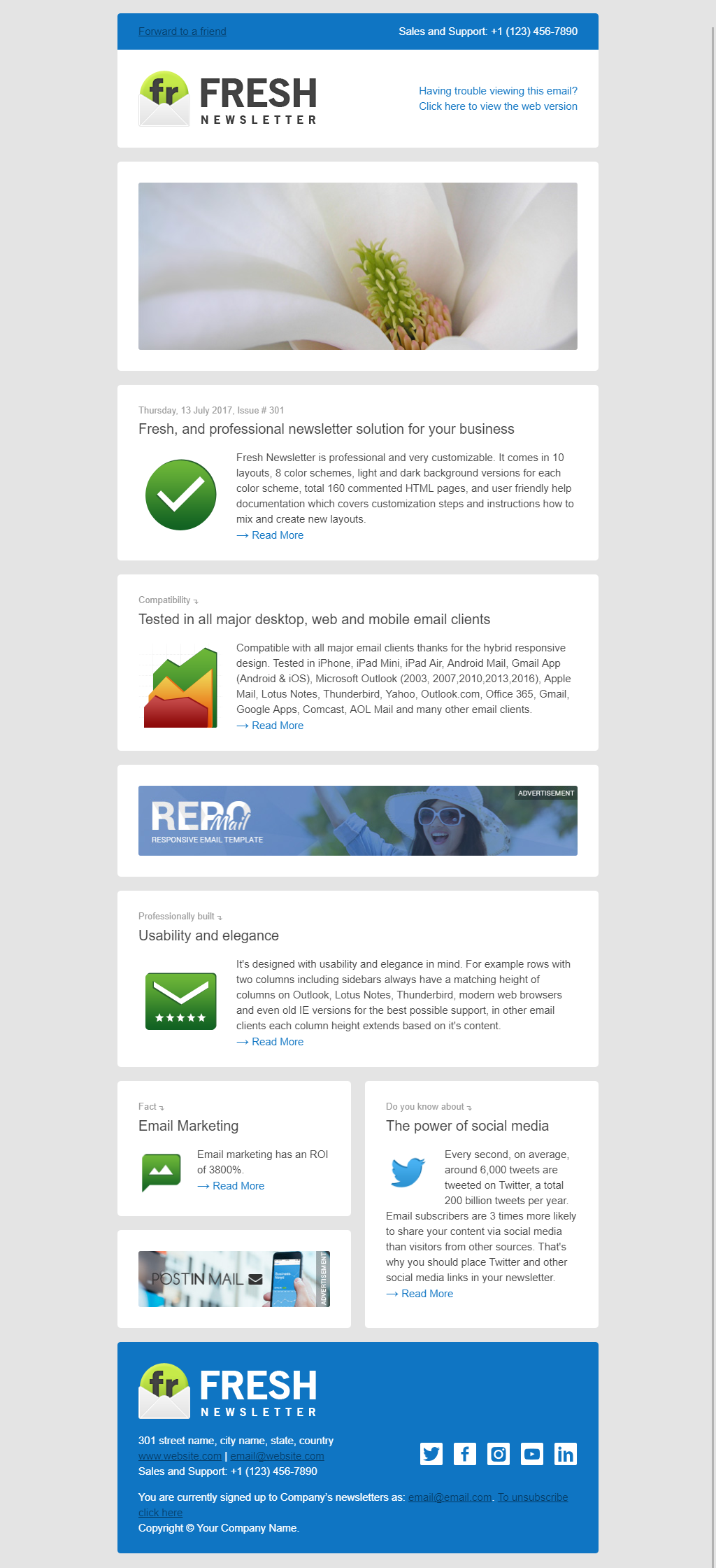 Fresh Newsletter Hybrid Email Template Access To Gifky Layout