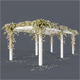 Pergola with flowers - 3DOcean Item for Sale