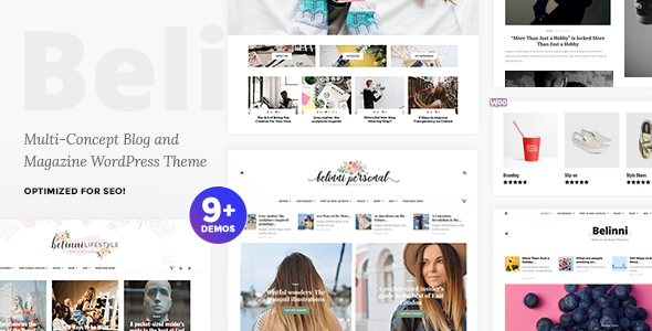 ThemeForest Belinni Multi-Concept Blog Magazine WordPress Theme 20107600