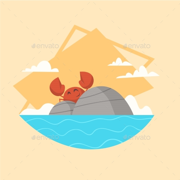 GraphicRiver Summer Vacation Sea Landscape Icon 20382018