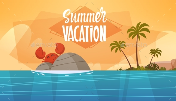 GraphicRiver Summer Vacation Sea Landscape Beach 20382062