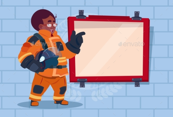 Fireman Leading Training - People Characters