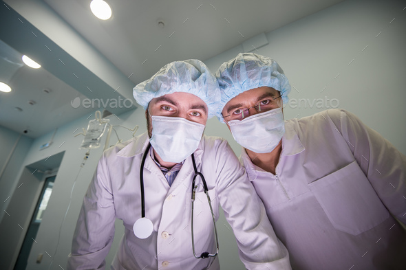 Experienced doctors during the operation - Stock Photo - Images