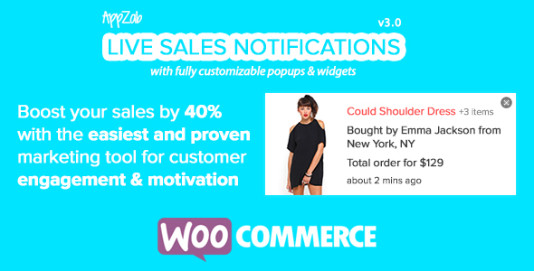 Live Sales Feed for WooCommerce - CodeCanyon Item for Sale