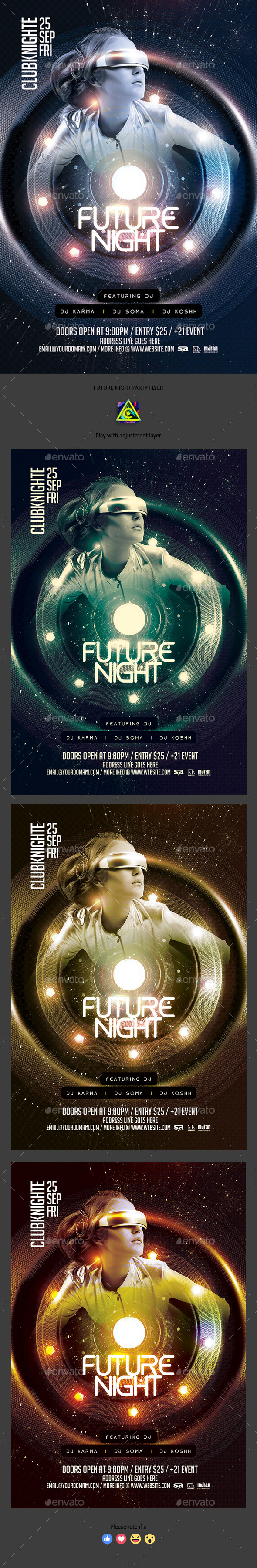Future Night Party - Clubs & Parties Events