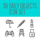 Daily Objects Icon Set