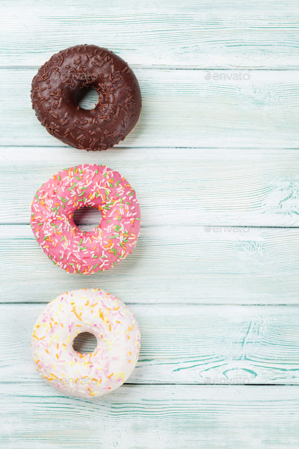Colorful donuts - Stock Photo - Images