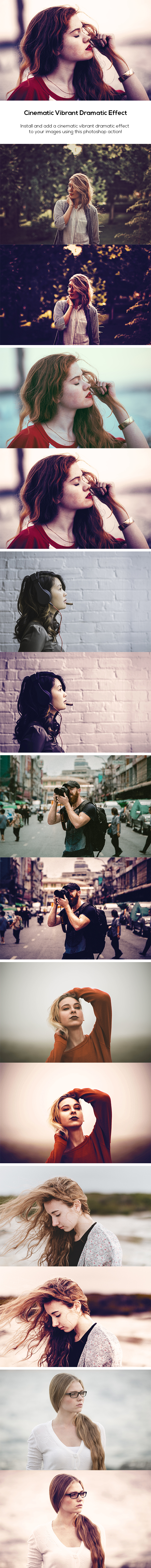 Cinematic Vibrant Dramatic Effect - Photo Effects Actions