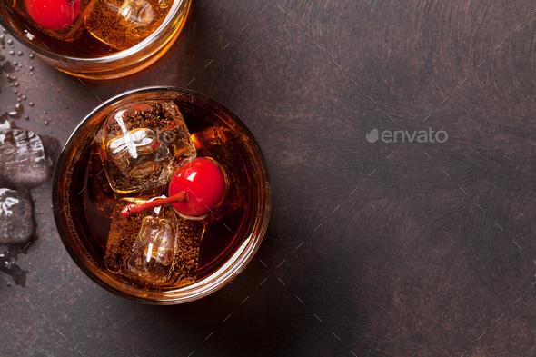 Manhattan cocktail - Stock Photo - Images