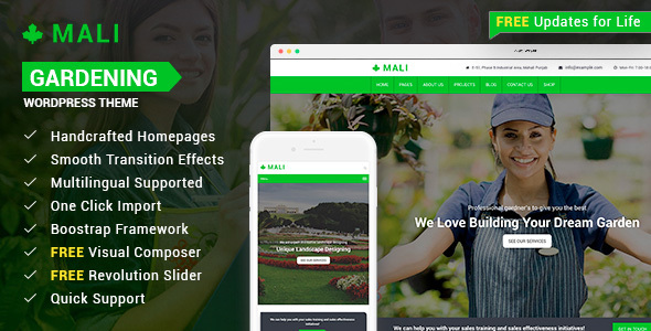 Download Landscaping - Gardening, Lawn & Landscape WP Theme