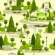Seamless Park Pattern