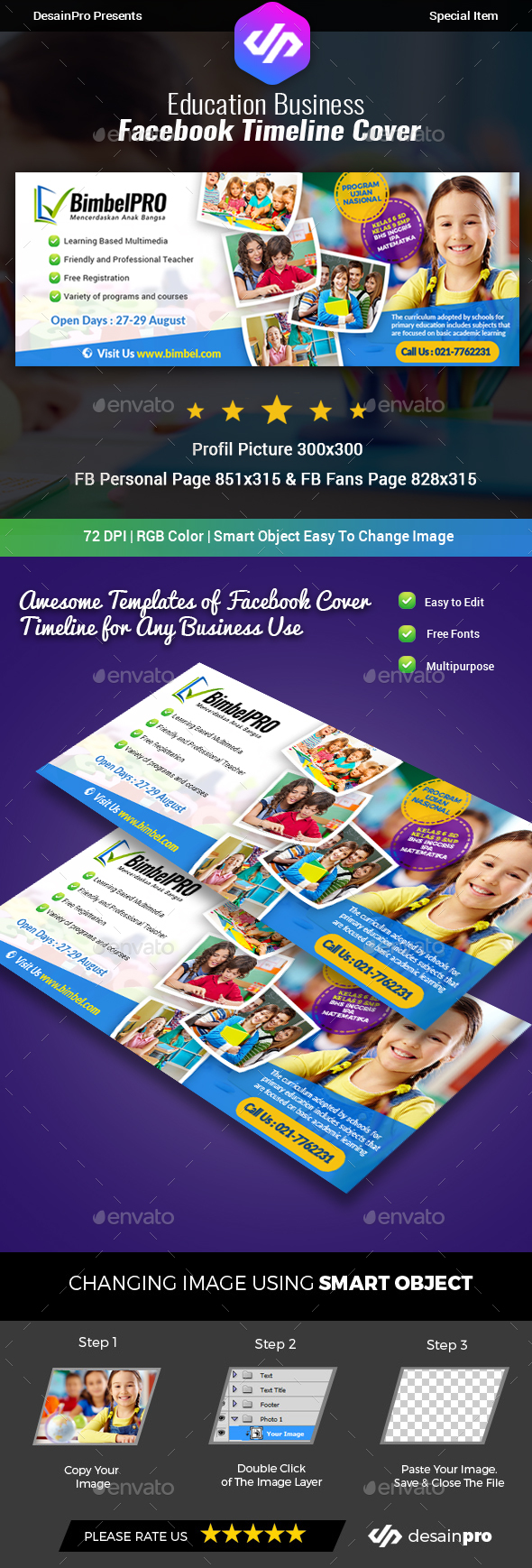 GraphicRiver Education Facebook Cover Timeline 20382943