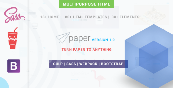 Paper Mulitipurpose HTML Template - Corporate Site Templates