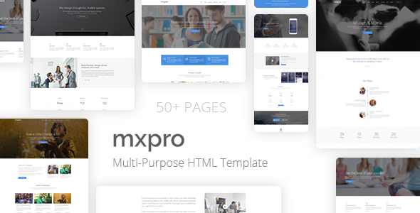 Mxpro - MultiPurpose HTML5 Template