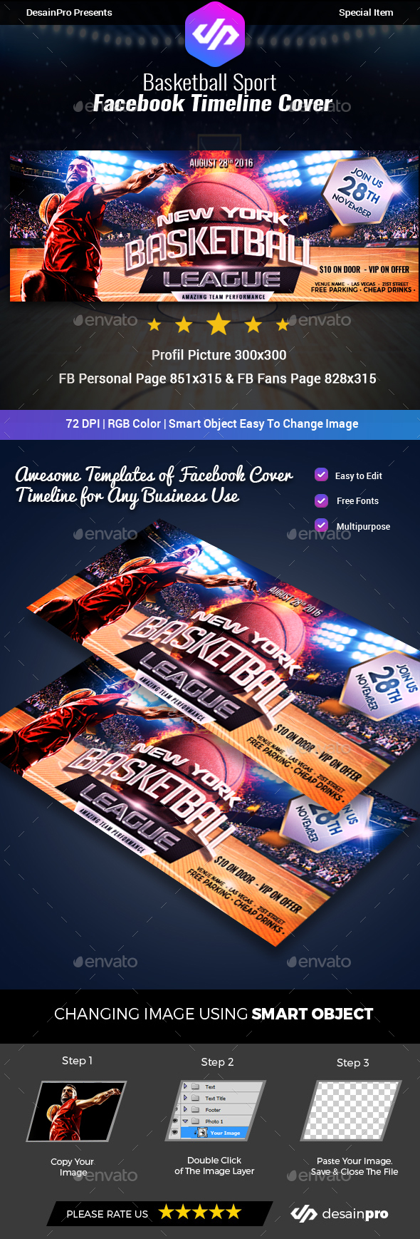 GraphicRiver Basketball Facebook Cover Timeline 20383000