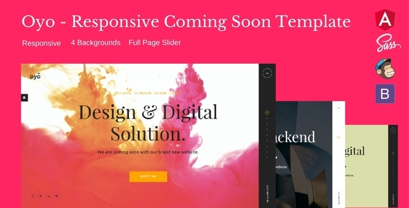 Oyo – Responsive HTML5 Coming Soon Template