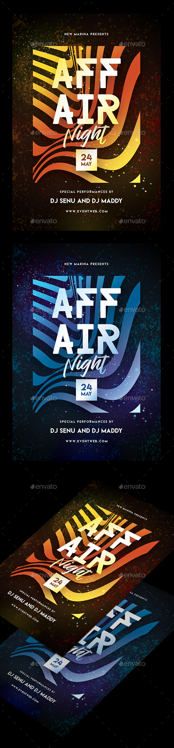 Affair Night Party Flyer - Clubs & Parties Events