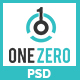 OneZero - One Page Business Website PSD Template