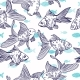 Vector Seamless Pattern with Image of a Fishes