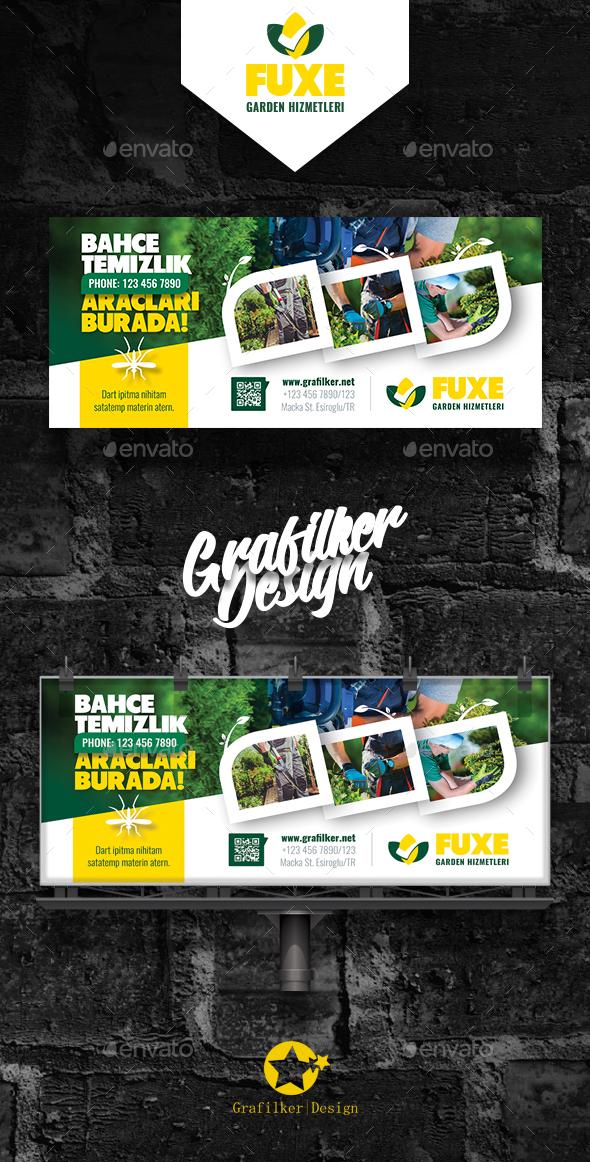 Garden Landscape Billboard Templates - Signage Print Templates