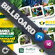 Garden Landscape Billboard Templates - GraphicRiver Item for Sale
