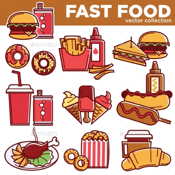 GraphicRiver Fast Food Menu Meals Burgers Sandwiches Desserts 20383514