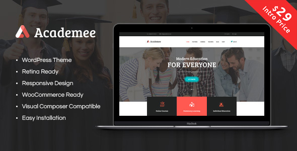 ThemeForest Academee Education Center & Training Courses 20018497