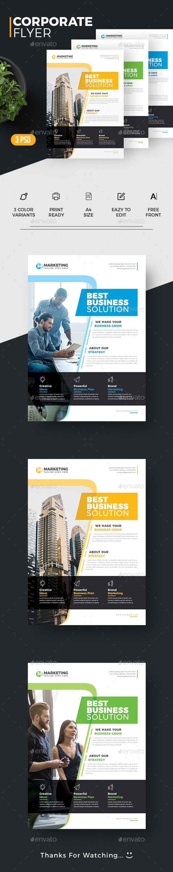 GraphicRiver Corporate flyer 20383593