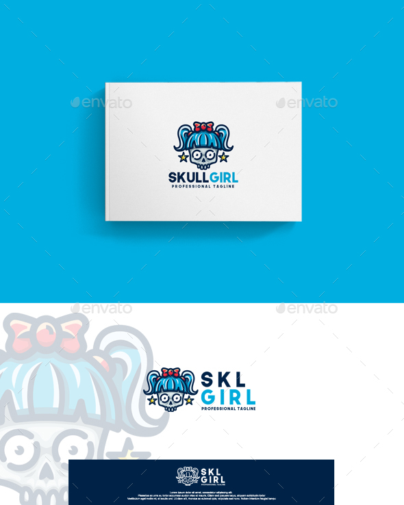 Skull Girl Logo - Humans Logo Templates