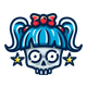 Skull Girl Logo - GraphicRiver Item for Sale