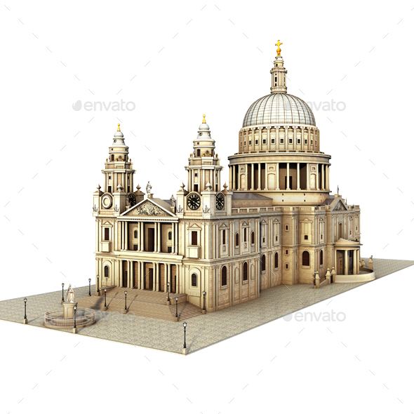 St Paul's Cathedral. London - Architecture 3D Renders