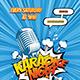 Comic Style Karaoke Flyer