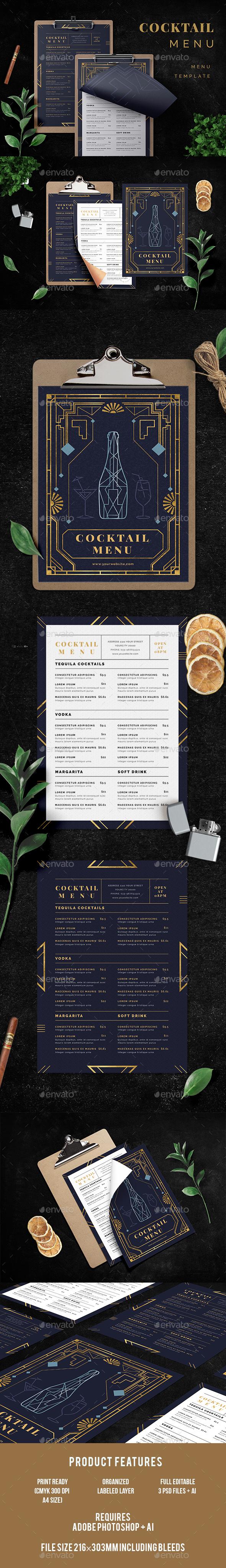GraphicRiver Cocktail Menu 20383927