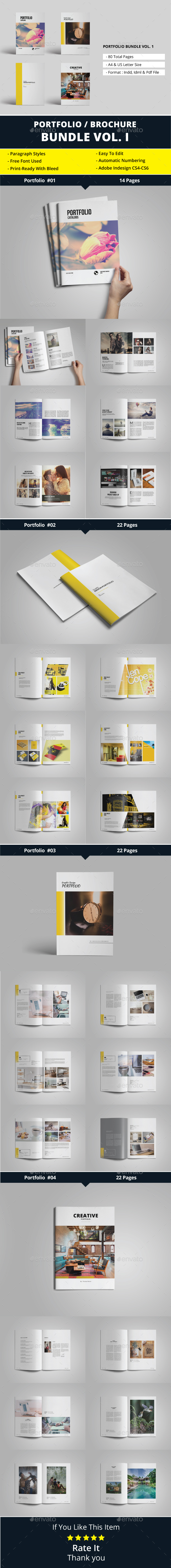 Portfolio / Brochure Bundle Vol. 1 - Portfolio Brochures