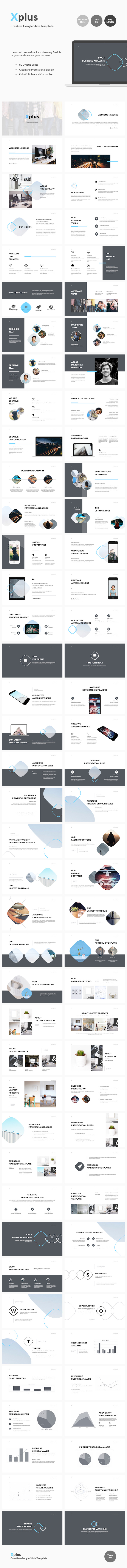 Xplus - Creative Google Slide Template - Google Slides Presentation Templates