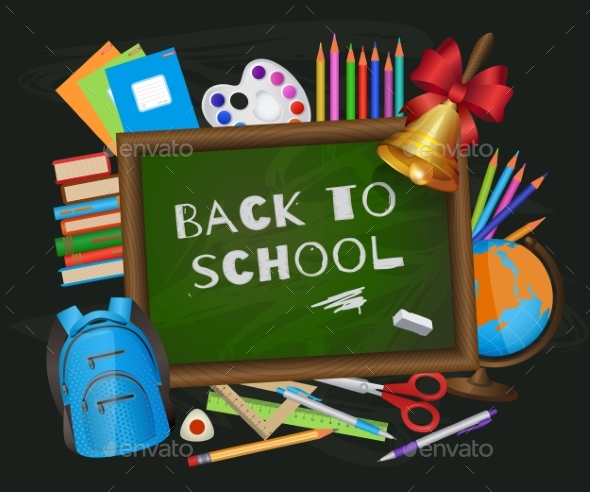 Back To School Banner Poster Greeting Card Design - Miscellaneous Vectors