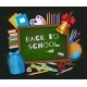 Back To School Banner Poster Greeting Card Design
