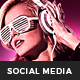City Night Party Social Media Template - GraphicRiver Item for Sale