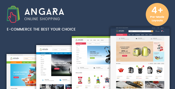Angara Multipurpose Mega Shop Ecommerce Template By Hastech