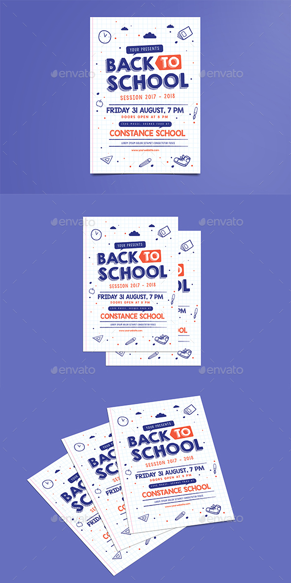 GraphicRiver Back to School Flyer 20384348